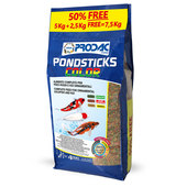 АКЦИЯ! PRODAC Pond Sticks Color- 5 кг+50% Бесплатно!